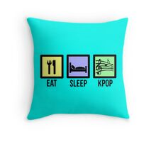 EAT SLEEP KPOP - TEAL  Throw Pillow