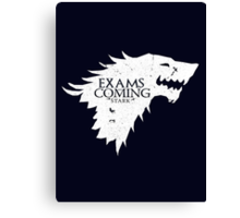 Exams are coming - White Canvas Print