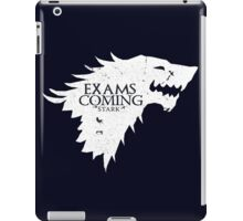 Exams are coming - White iPad Case/Skin