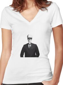 Skeleton Suit Women's Fitted V-Neck T-Shirt