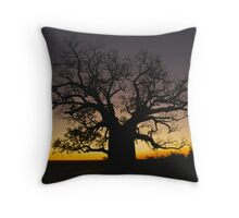 Boab at Sunset Throw Pillow