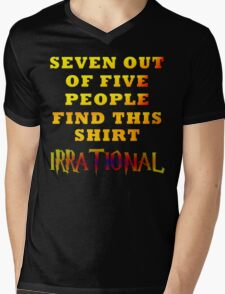 Irrationality Mens V-Neck T-Shirt
