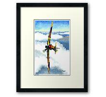 Desert Spitfire Framed Print