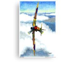 Desert Spitfire Canvas Print