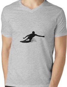 Drop Knee Mens V-Neck T-Shirt