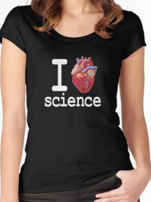 Funny - I Heart Science Women's Fitted Scoop T-Shirt