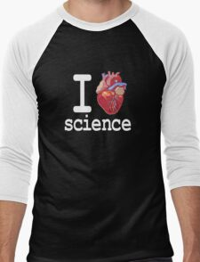 Funny - I Heart Science Men's Baseball ¾ T-Shirt