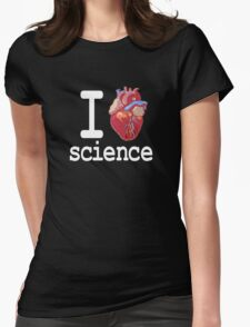 Funny - I Heart Science Womens Fitted T-Shirt
