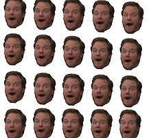 Andy Dwyer (floating head) by Hunter Bustamante