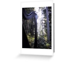 Harp in the Trees Greeting Card