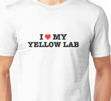 I Heart My Yellow Lab Unisex T-Shirt