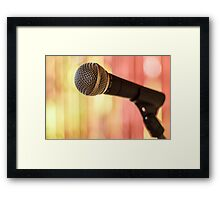 Stand Up Speak Up Framed Print