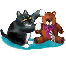 Mouse wants the Teddy Bear Ribbon by NineLivesStudio