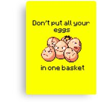 Exeggcute #102 - Don't put all your eggs in one Basket! Canvas Print
