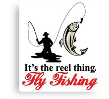 Fly Fishing Canvas Print