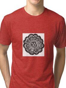 Mandala Flower Design Tri-blend T-Shirt