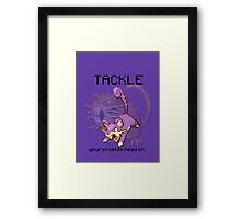 Rattata #19 - TACKLE your problems head on! Framed Print