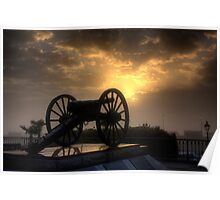 Cannon at Sunrise Poster