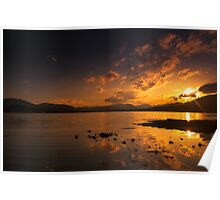 Sunset on the loch Poster