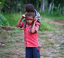 Village Kids, Laiagam, PNG by Erland Howden