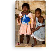 Gueckadou Girls Canvas Print