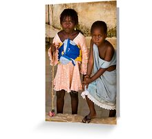 Gueckadou Girls Greeting Card