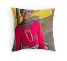 Mamou Girl Throw Pillow