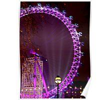 New Year London Eye 08-09 Poster