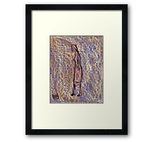 Figure of a girl with the least effort Framed Print