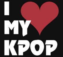 I LOVE MY KPOP - BLACK Baby Tee
