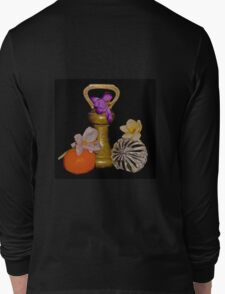 Old Brass Fruit and Flowers Long Sleeve T-Shirt