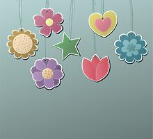 Cute Flowers on a String by kennasato