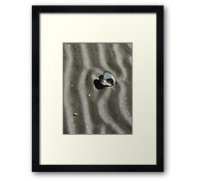 All Alone on the Sand Framed Print