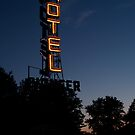 Pioneer Motel Neon by Sally P  Moore