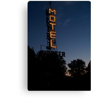 Pioneer Motel Neon Canvas Print