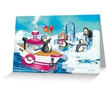 penguins in Antarctica  Greeting Card