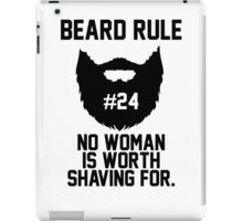 Beard Rule #24 iPad Case/Skin