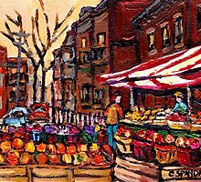 AUTUMN IN THE CITY CANADIAN PAINTINGS BEST AUTHENTIC ORIGINAL MONTREAL PAINTINGS by Carole  Spandau