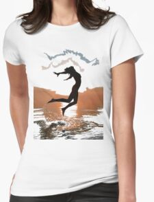 Over all the world (t-shirt) Womens Fitted T-Shirt
