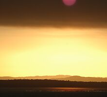 Sunset over Hervey Bay by Frank Donnoli
