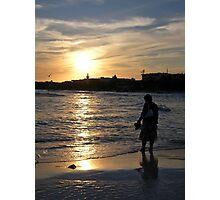 sunset paddle Photographic Print