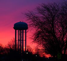 Twilight Water Tower by Brian Dodd