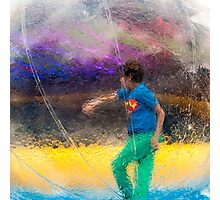 Walking In A Bubble Photographic Print