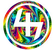 47 (4th and 7th Chakra) ACID LSD WARP Photographic Print