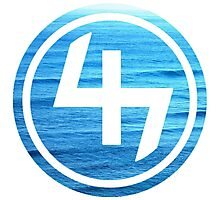 47 (4th and 7th Chakra) Ocean Water Waves Photographic Print