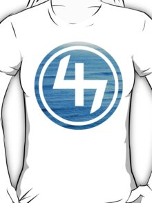 47 (4th and 7th Chakra) Ocean Water Waves T-Shirt
