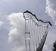 Glass Harp with Sky by Beth Stockdell