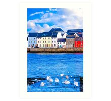 Shores Of Galway In The Winter Art Print