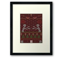 UGLY BUFFY CHRISTMAS SWEATER Framed Print