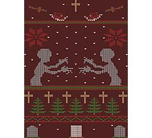 UGLY BUFFY CHRISTMAS SWEATER Photographic Print